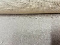 Carpet remnant 1.5m x 3.0m IVORY PEARL. Cost £49 sq m. BRAND NEW.
