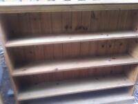 Wooden bookcase / shelving unit