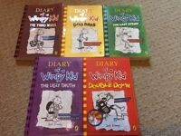 Diary of a wimpey kid books x 5