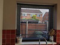 3 x black kitchen blinds