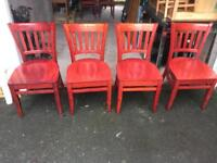 14 solid wood chairs