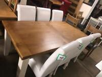 Large oak table £450 chairs £70 each