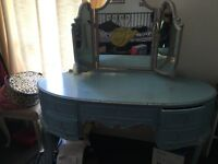 Antique dressing table with stool