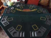 Poker table top & set of chips