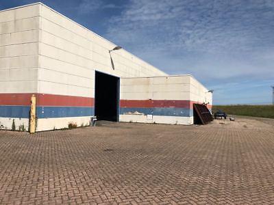 Stahlkonstruktion Stahlhalle Lagerhalle Flachdachhalle Produktionshalle 21,5x47