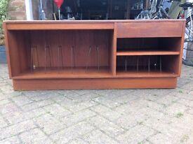 Large retro teak media unit/sideboard
