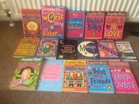 16 Jacqueline Wilson books.