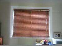 Wooden blinds 183cm wide