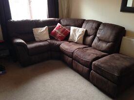 corner sofa brown flux