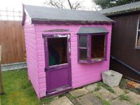 WOODEN PLAYHOUSE IN SOLID CONDITION