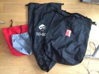 4 x camping bags waterproof liners
