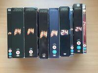 24, Series 1 - 8 DVD boxsets + Redemption