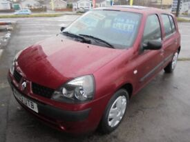 RENAULT CLIO 1149cc AUTOMATIC EXPRESSION 16v QS5 5 DOOR HATCH, 1 FORMER KEEPER WITH 71K FROM NEW