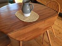 Ercol drop leaf table oval