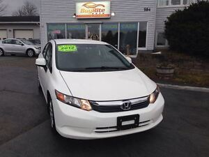 2012 Honda Civic LX Bluetooth, air-conditioning, cruise control