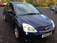 Low Mileage Honda Civic 1.4 Mot Nov 2017 Alloys low tax & Insurance elct windows very economical