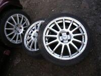 SPORT ALLOY WHEELS X 4 ,195X45X16, 4X100, VW, VAUXHALL, RENAULT, ETC.