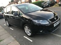 Volkswagen sharan / seat Alhambra 2014, XL, 7 seater, automatic diesel Pco hire rent UBER READY!!
