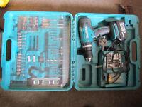 makita 18v drill driver+case+charger +3.0 ah battery