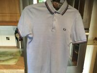 FRED PERRY polo shirt adult size XS slim fit. About 19 inches pit - pit. IMMACULATE.