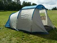 Four person tent, two sleeping bags & camping accessories