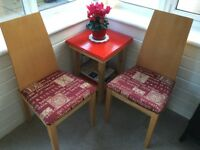 2 Dining/Occasional Chairs newly re-covered
