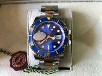 Swiss Rolex Submariner Automatic Watch Blue