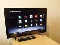 "Excellent 22"" SONY LED SMART TV full hd ready 1080p freeview inbuilt"