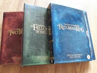 Lord of the Rings - all 3 films on 3 DVDS boxsets only £10