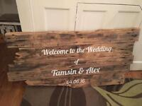 Wedding driftwood for making signs