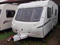 2006 Abbey Vogue 470 4 Berth Fixed Bed Lightweight Caravan with Motor Mover