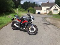 Matt Grey metallic 2013 Street Triple R ABS, some extras.