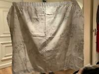 Grey flower blackout curtains
