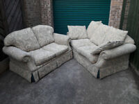 Fabric 2 seater and 3 seater suit settee set can be sold separetly / free delivery