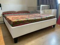 White Double size Bed