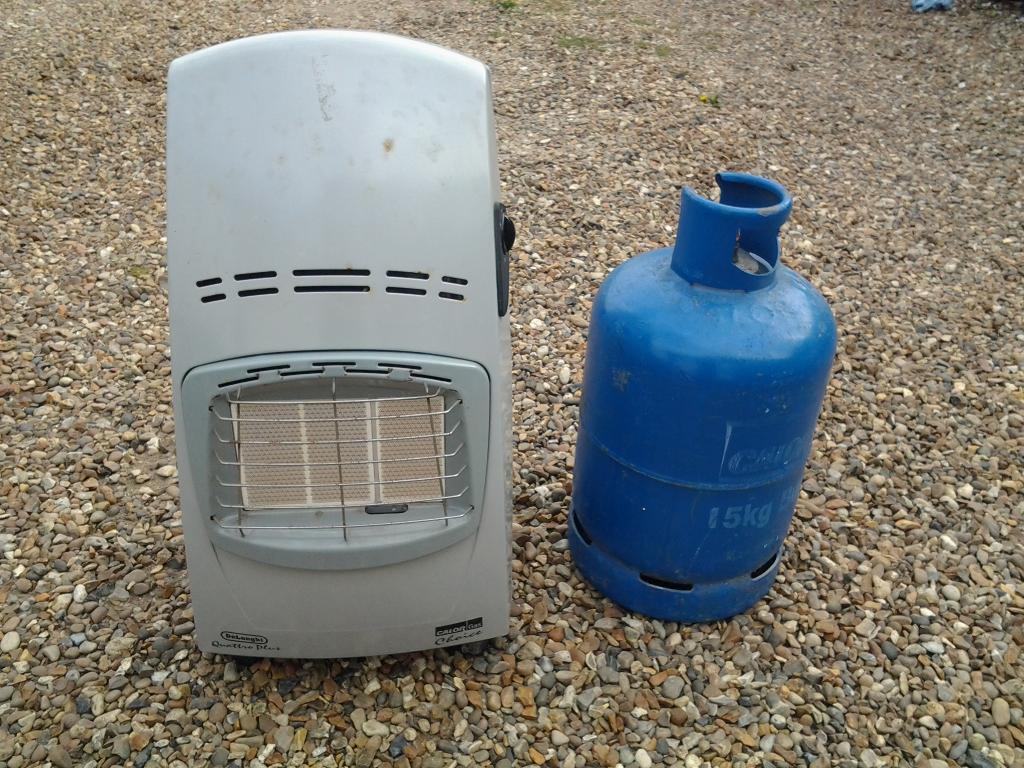 Portable gas heater & empty bottle