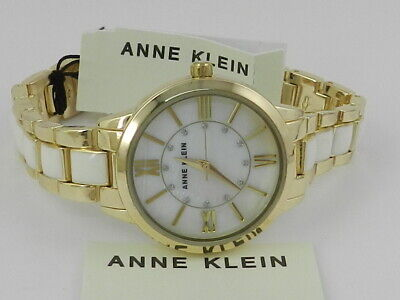 Anne Klein Women's Swarovski Crystal Accented  Watch AK/3328WTGB