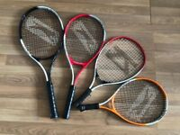 Tennis Rackets x 4 (all different in size)