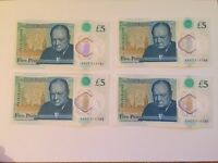 Limited Edition!!! AA07 £5 pound note MINT condition!!!