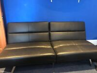 3 Seater Used Faux Leather Sofa / Sofa Bed, Perfect Furniture For A Bedroom Or Lounge