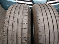 """235/60/18"""" GOODYEAR EAGLE F1 SUV PART WORN TYRES (5.5mm) VOLVO XC90 JAGUAR E PACE FOR ALLOYS WHEELS"""