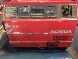 Generator Honda Ex 650 spare/ repairs