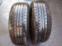"""205/55/16"""" Part Worn Tyres 7mm/5.75mm"""