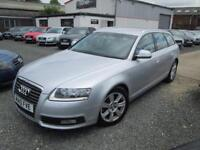 Audi A6 2.0 TDIe SE 5dr AVANT MANUAL + SATNAV + BLACK LEATHER + FULL SERVICE HISTORY (silver) 2010
