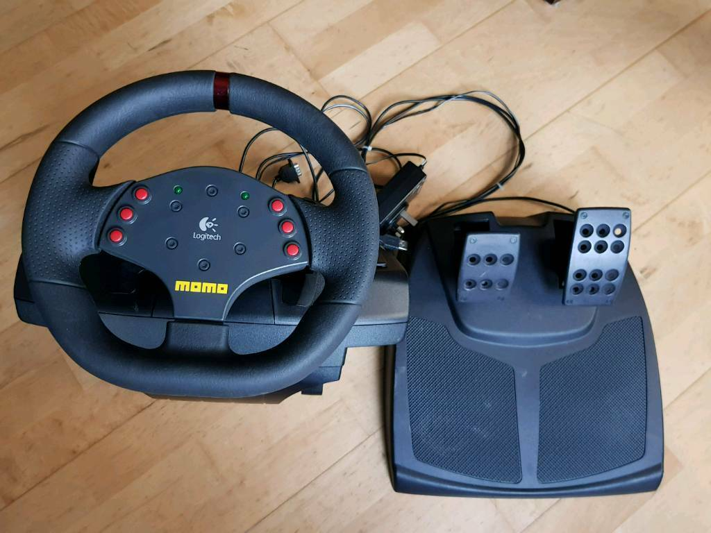 d714efe28d4 Logitech Momo Racing Steering wheel and pedals | in Sunniside ...