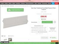 Brand new unused Victorian plumbing bath panel