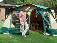 Cabanon Andorra 4-berth family frame tent and canopy