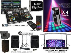 BUSH ACOUSTICS METAL DJ VINYL RECORD STORAGE FLIGHT CASE 12