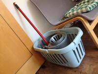 Laundry Basket & Mop & Bucket