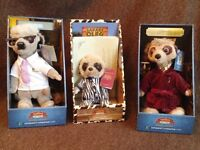 Compare The Market Meerkats x 3. Boxed with certificates.